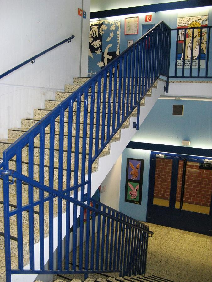 Das blaue Treppenhaus