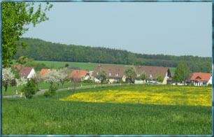 Blick auf das Wohngebiet an der Helmsdorfer Allee