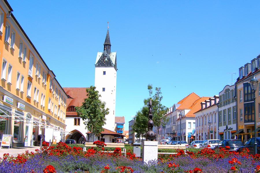 Blick nach Norden auf das Alte Rathaus