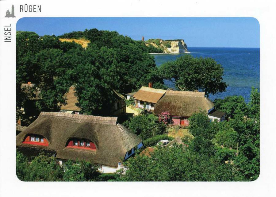 Blick über das Dorf Vitt zum Kap Arkona