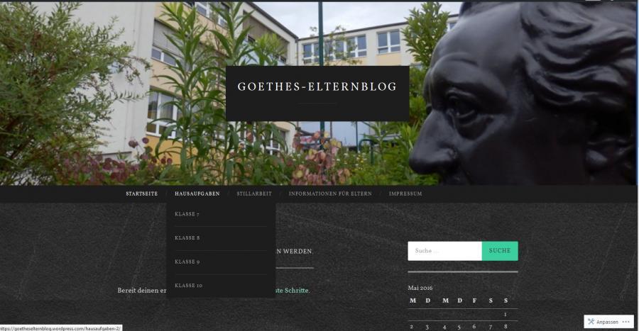 Goethes Elternblog