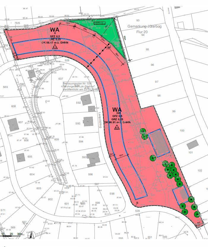 BP034 1.Änderung Ausschnitt Planzeichnung