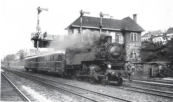BR 86 875 ehemals Bw Holzwickede am 08.06. 1949 in Wuppertal-Unterbarmen
