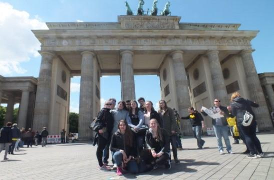 Klasse 9/10 am Brandenburger Tor