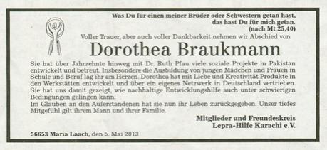 Nachruf Brauckmann