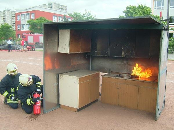 freiwillige feuerwehr prenzlau - brennendes fett niemals mit ... - Feuerlöscher Für Küche