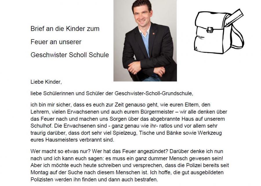 Jüterbog Brief An Die Kinder Der Scholl Grundschule Vom Bürgermeister