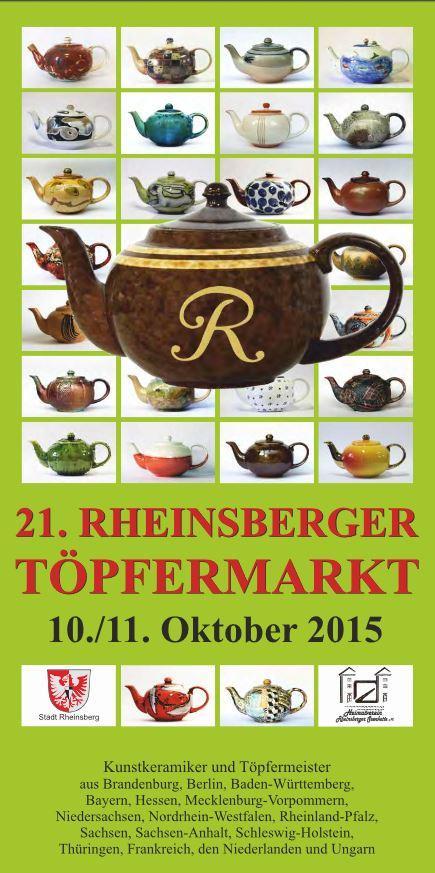 Broschuere 21. Rheinsberger Töpfermarkt 2015