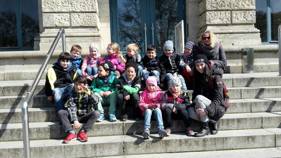 vor dem Museum in Hannover
