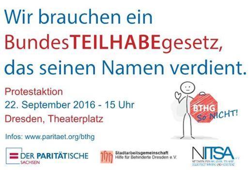 Einladung zum 22.09.,15 Uhr, Protestveranstaltung BTHG