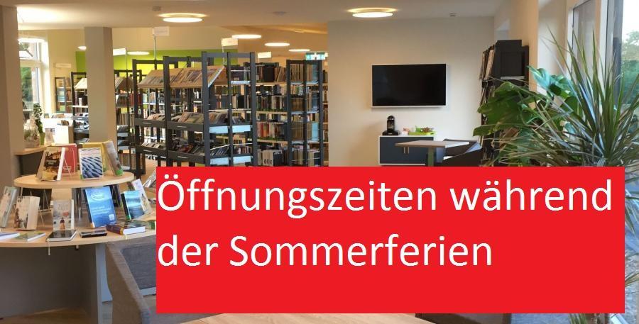 Anzeigebild Bücherei mit Sommerferienzeiten
