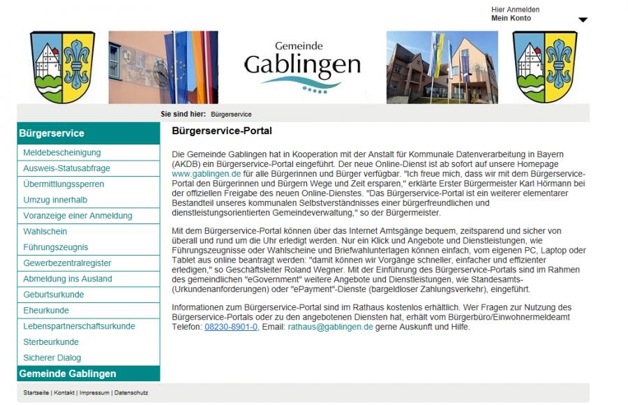 Bürger-Service-Portal