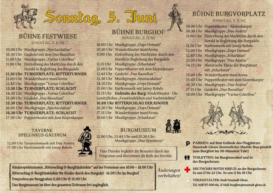 Programm Burgfest 1