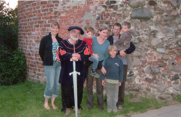 Der Burgvogt empfängt seine Gäste