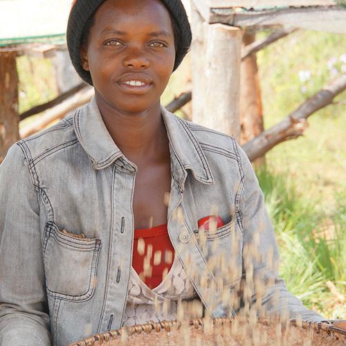 Kaffeebäuerin aus Burundi