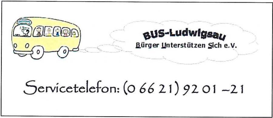 Servicetelefon BUS-Ludwigsau e. V.