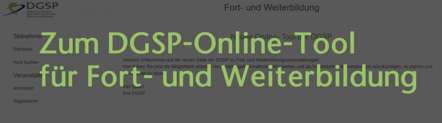 Externer Link zum DGSP-Fort- und Weiterbildungstool