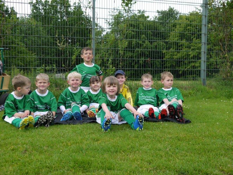 Fußball-Minis: Gruppenfoto