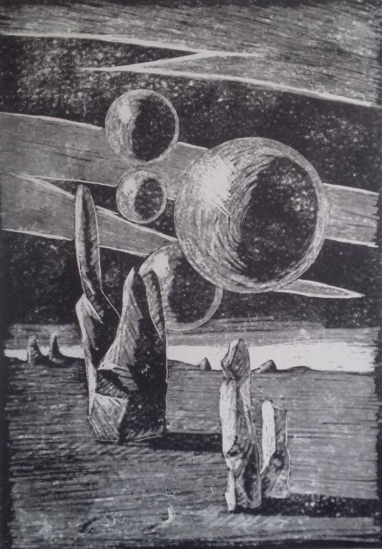 Unendlichkeit1986 Zementsteindruck30 x 42 cm