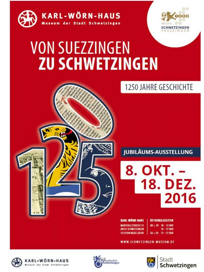 Plakat zur Jubiläums-Ausstellung