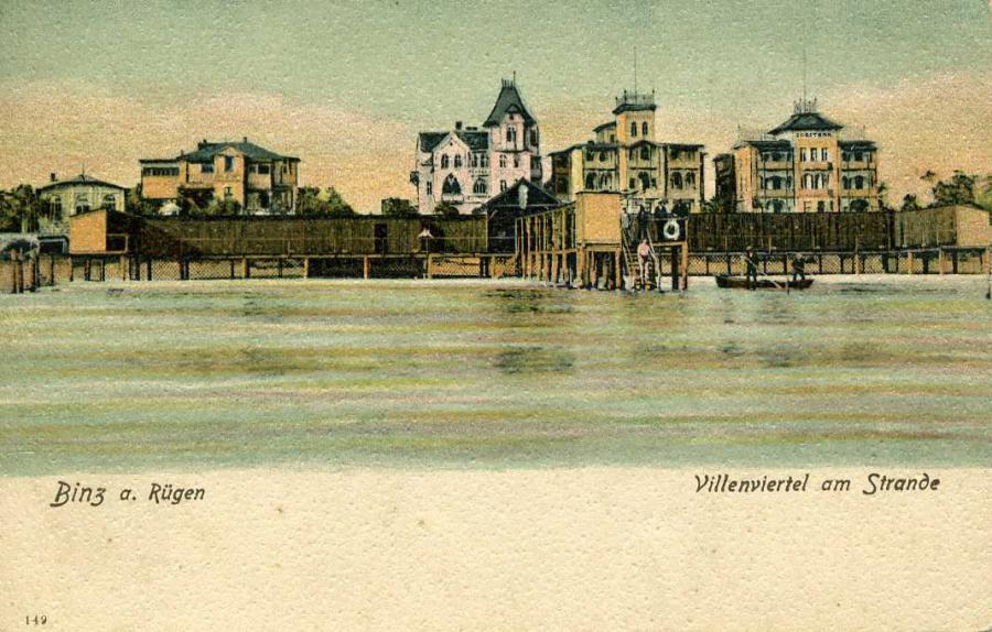 Binz a. Rügen Villenviertel am Strand