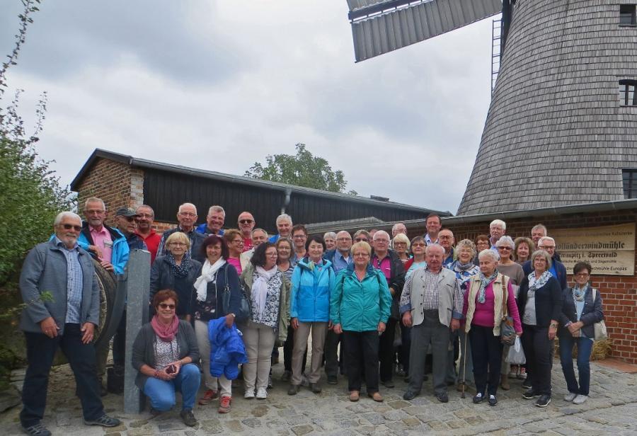 Straupitz, Besichtigung einer Holländer Windmühle