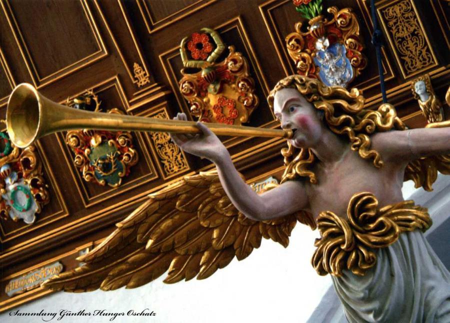St Marien Stralsund Stellwagen-Orgel Serie Engel