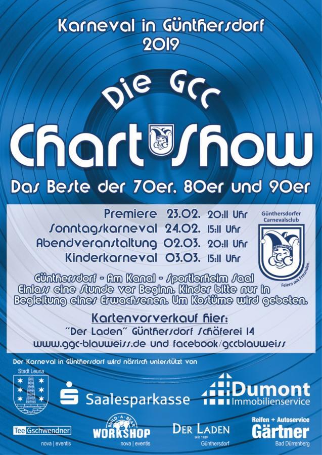 Karneval in Günthersdorf - Die GCC Chart-Show