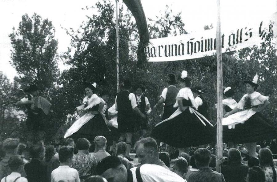 Erstes Vinzenzifest 1952 - Tänzer