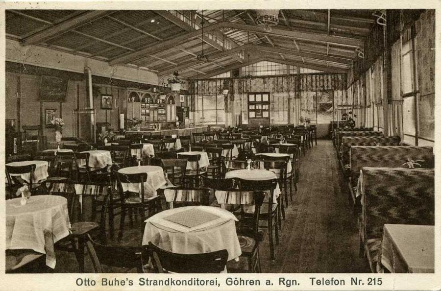 Göhren Ottos Buhe`s Strandkonditorei 1934