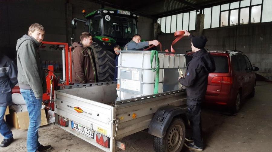 Lehrunterweisung Ladungssicherung in Peickwitz