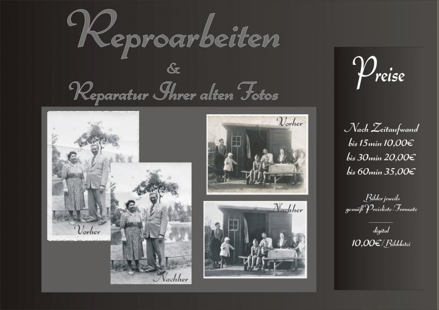 Reparaturen alter Fotos
