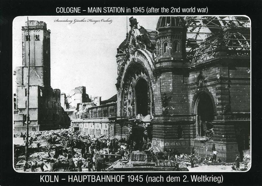 Köln - Hauptbahnhof Nach dem 2. Weltkrieg