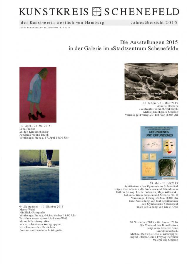 Jahresübersicht Galerie 2015