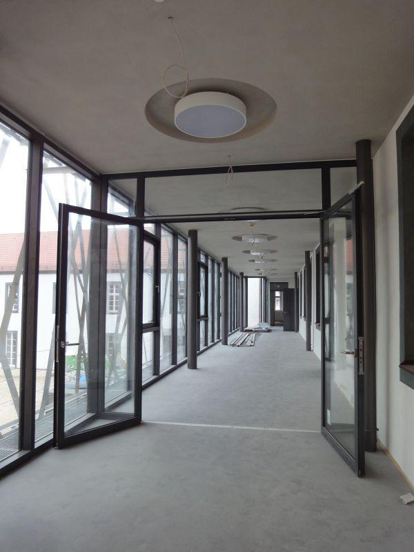 Das neu Foyer vor dem Saal im OG des Westflügels