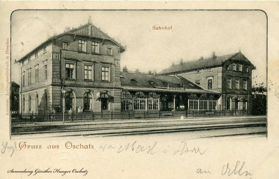 Gruss aus Oschatz Bahnhof