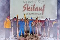 Historische Skifilme und historische Skifahrer gab es am Seebuck/Feldberg für die Besucher zu bestaunen - Foto: johapress/Hahne