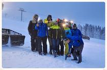 Daumen hoch: Nach dem Vor-Ort-Termin mit den Delegierten des Internationalen Skiverbandes (FIS) gab es grünes Licht für die Weltcup-Premiere - Foto: HTG