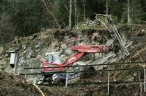Die Bagger rücken nach dem Hangrutsch wieder ab - ab Freitag, 12. Februar fährt die Höllentalbahn wieder im Halbstundentakt von Freiburg in den Hochschwarzwald - Foto: Hahne