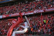 Beste Stimmung in der ausverkauften Münchner Allianz Arena beim Rückspiel der Bayern gegen Athletico Madrid - Foto: www.johapress.de