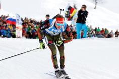 Benedikt Doll beendet Biathlon-WM auf Rang neun - Foto: Joachim Hahne / johapress