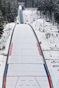 Die große Hochfirstschanze von Titisee-Neustadt ist vom 8. bis 10. Dezember 2017 Austragungsort von zwei Weltcupskispringen - Foto: Hahne