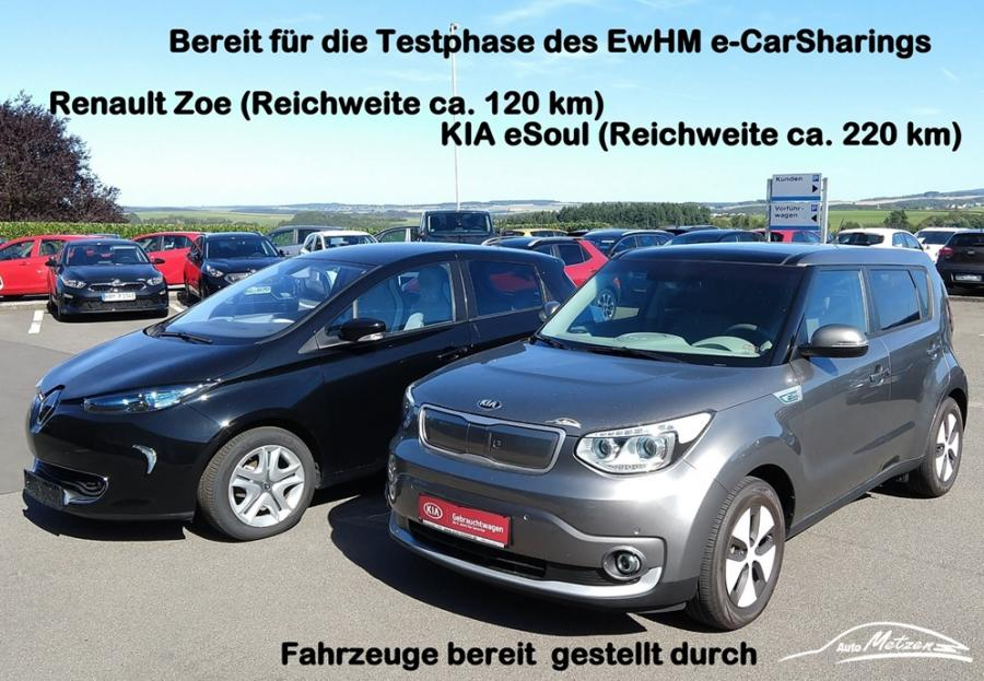 Fahrzeuge der Testphase