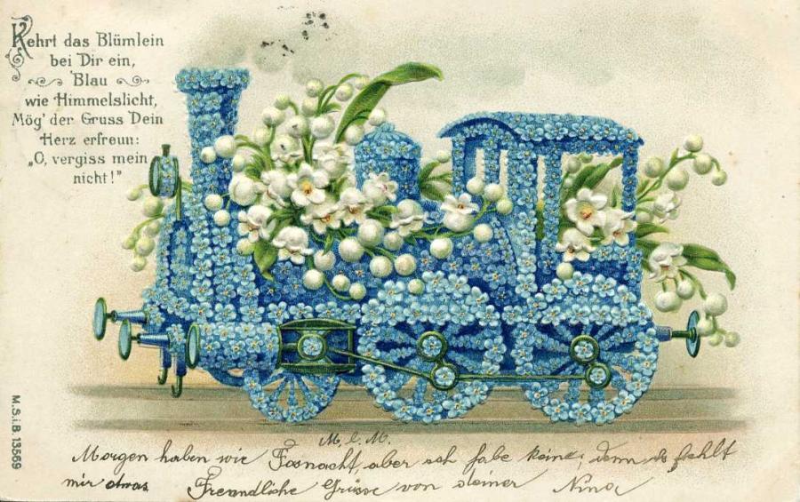 Kehrt das Blümlein Carte postale von 1906