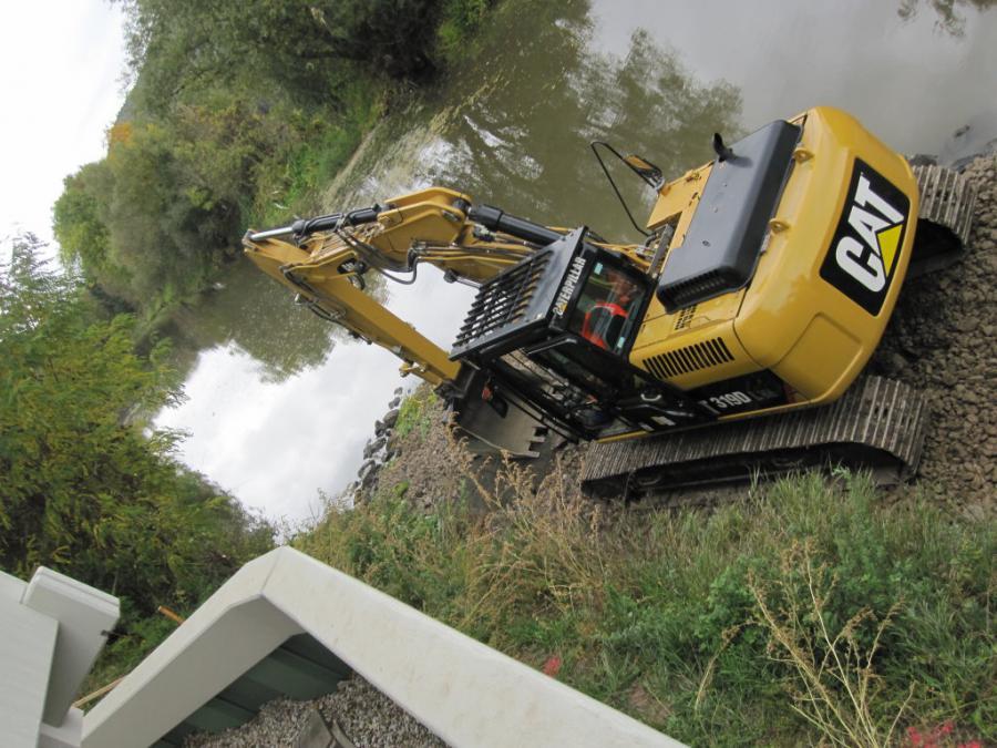 Ufersanierung Werra mit Wasserbausteinen