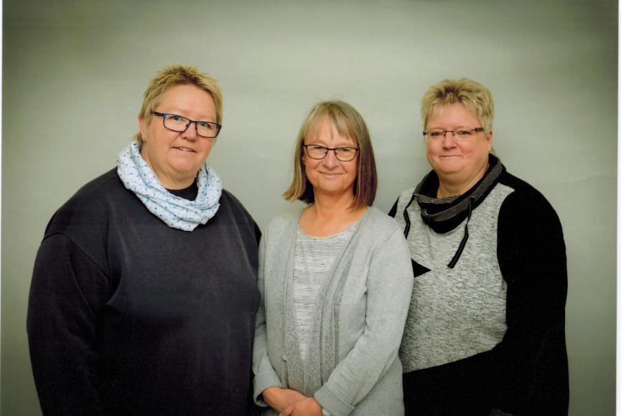 Rita Lorenz-Petersen, Ingrid Holm und Maike Husfeldt.