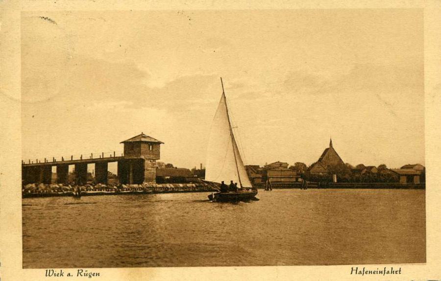 Wiek a.Rügen Hafeneinfahrt 1930