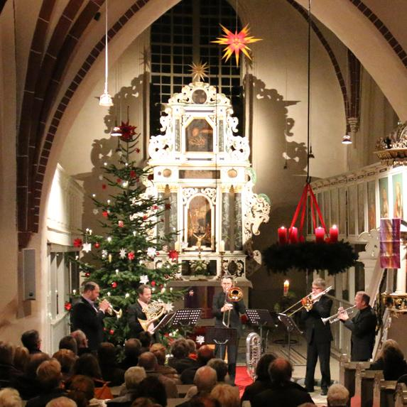 Konzert mit Wirelessbrass in Kremmen am 20.12.2015