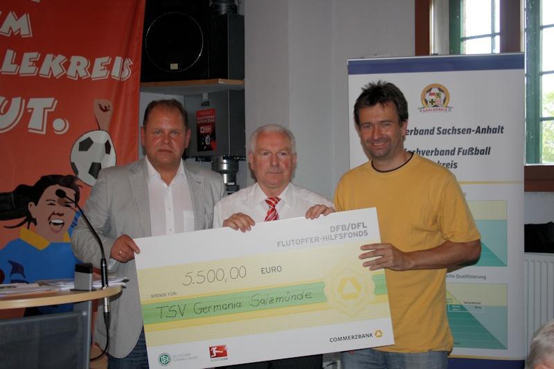 Fluthilfe für TSV Geramnia Salzmünde