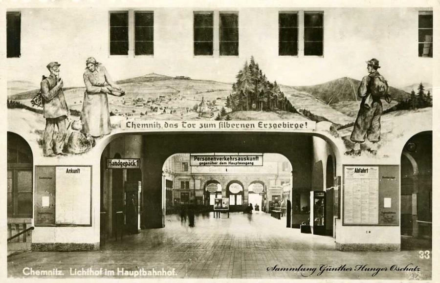 Chemnitz Lichthof im Hauptbahnhof
